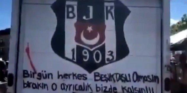 Protestoda yine bir Beşiktaşlı