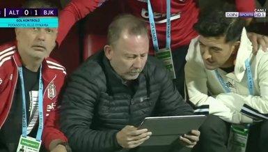 Altay Beşiktaş maçında sayılmayan golü Sergen Yalçın böyle izledi