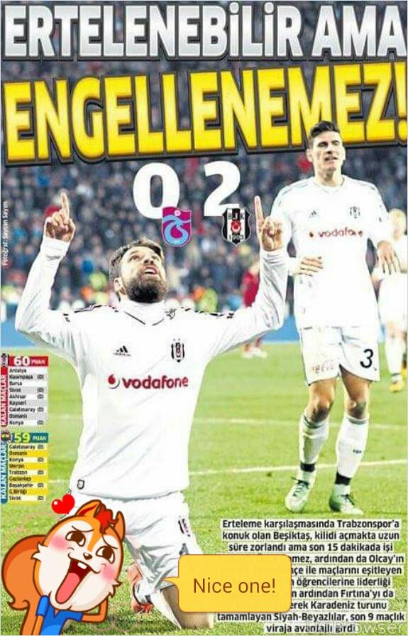 Beşiktaş kazandi sosyal medya patladı