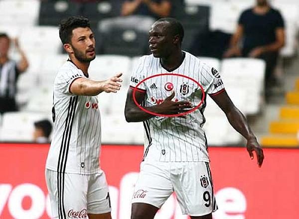 Beşiktaşlı futbolcuların formasındaki detay
