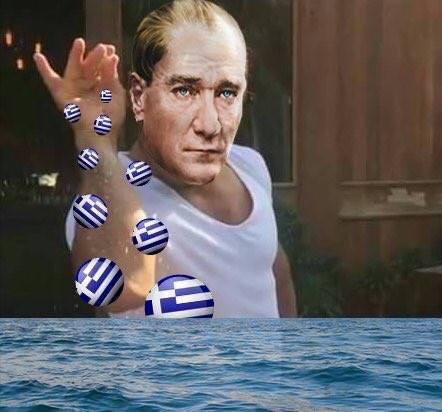 Yunanlıları denize döktük!