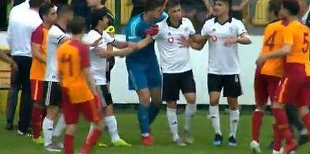 Galatasaray - Beşiktaş U21 derbisinde olay çıktı!