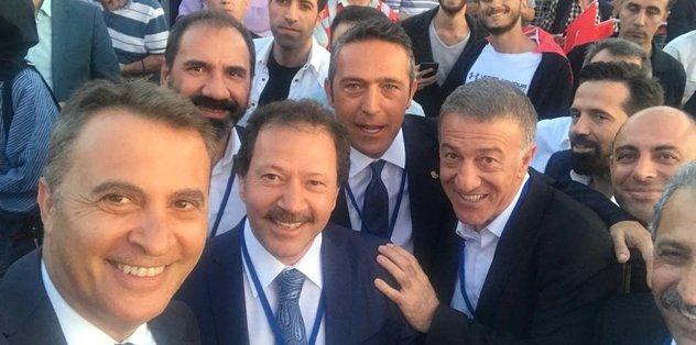 Kulüp başkanları 15 Temmuz için Atatürk Havalimanı'nda