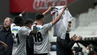 Son dakika spor haberleri: Beşiktaş Alanyaspor maçında Rachid Ghezzal attığı golü Ajdin Hasic'e arma